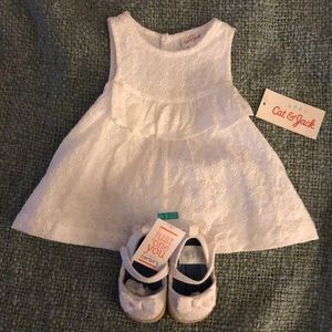 Beautiful Dress and Shoes 0-3M outfit!! 🥰🥰🥰